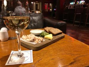Food in the Brehon Hotel bar in Killarney Ireland