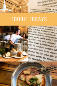 A gallery of foodie foray pictures from CancerRoadTrip