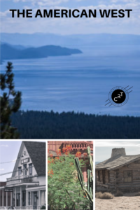 Pinterest collage of American West photos