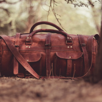 old leather luggage