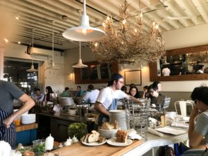 The bustling kitchen at Walrus and Carpenter
