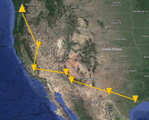 A RoadTrip from the Pacific Northwest to Tahoe to Houston