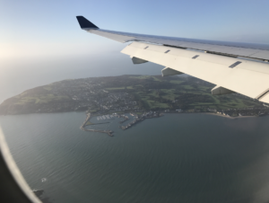 A view of the Irish Coast from Delta Airlines