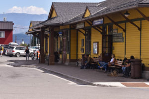 The Truckee Train station runs through the center of town.