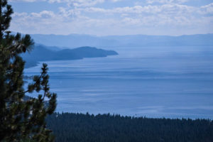 Lake Tahoe looking from north to the south end of the lake.