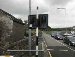 One of the many train crossings in the Irish countryside en route to Killarney