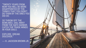 Sailing and life lessons