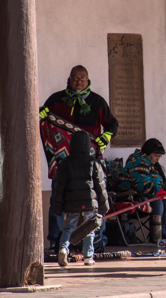 Indian, plaza, Santa Fe