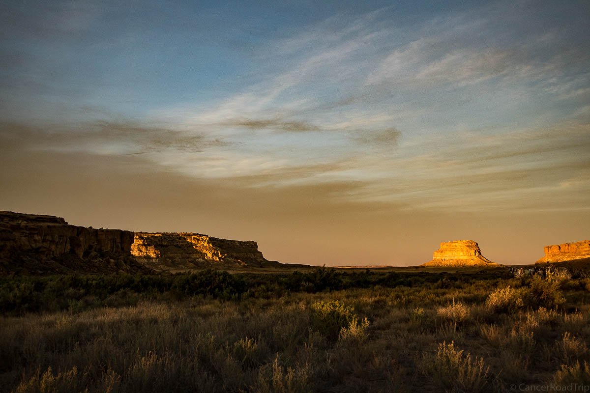 Camping in Chaco Canyon, New Mexico